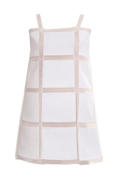 Organza semi-transparent mini dress, silk gauze and wool cotton (2011)